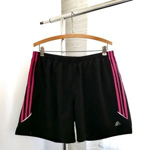 Adidas Climalite Pink and Black Running Shorts